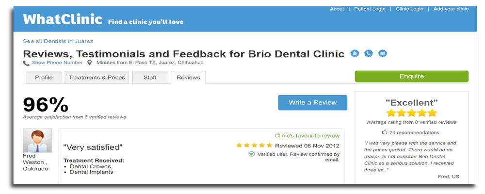 dentist reviews